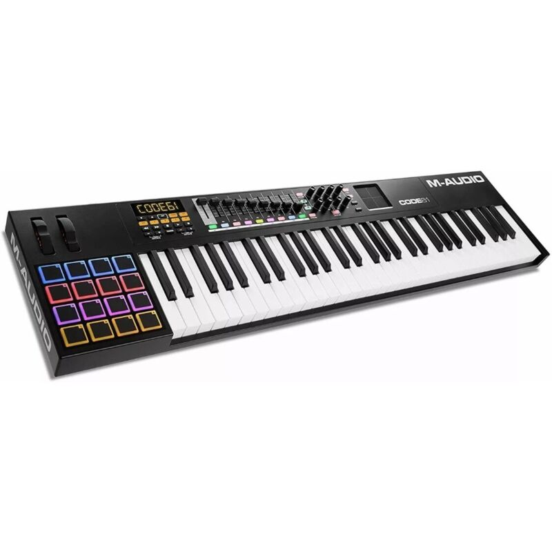 M-Audio Code 61 (Black) | USB MIDI Controller With Stool & M Gear Sustain Pedal