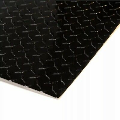 4 X 8 Black Aluminum Diamond Plate Sheet Starbrite .025 Thick Gloss Black