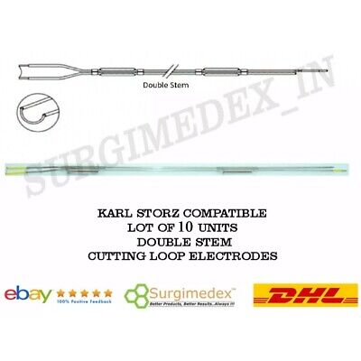 New 10x Cutting Loop Electrodes Double Stem - Karl Storz Compatible - Monopolar