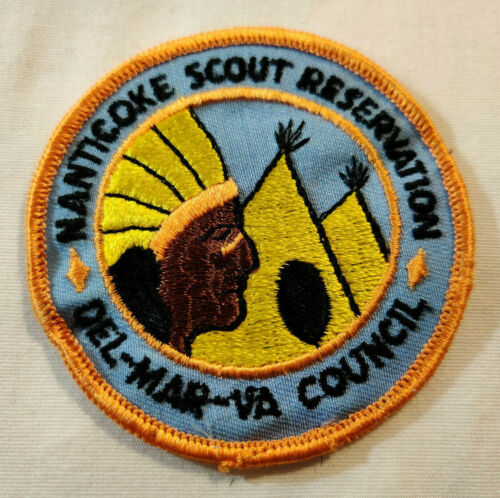 Vtg Del-Mar-Va Nanticoke Scout Reservation BSA Boy Scouts Patch
