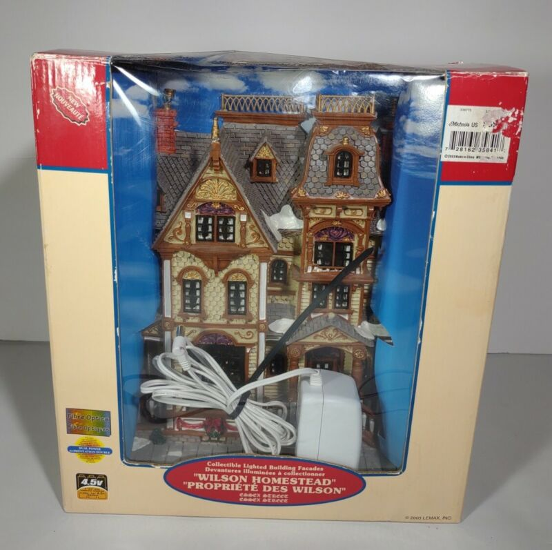 RARE 2004 Lemax Ashton Antiques Essex Street Collectable Lighted Building Facade