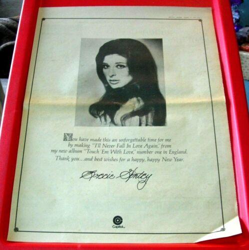 Bobbie Gentry Happy New Year Vintage ORIG 1970 Press/Magazine ADVERT Poster-Size