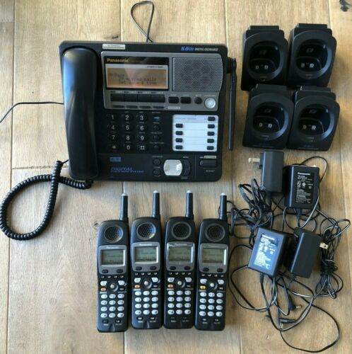 Panasonic KX-TG4500 & (4) KX-TGA450B Cordless 4-line Phone System