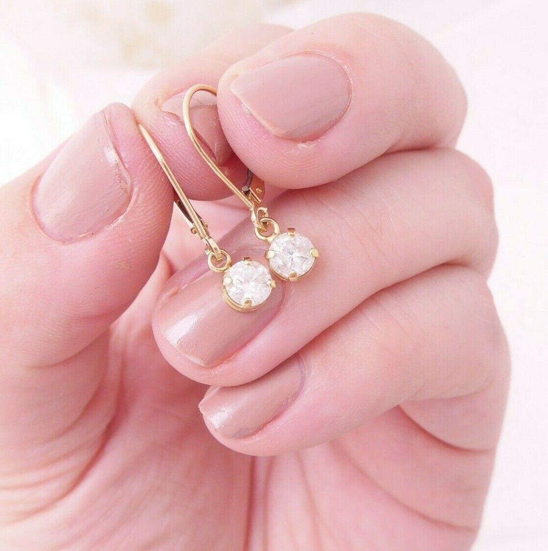 18ct gold 3/4ct diamond earrings, 18k 750