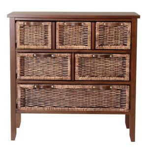 Set of 3 Wicker Storage Chests - 1 large and 2 small
