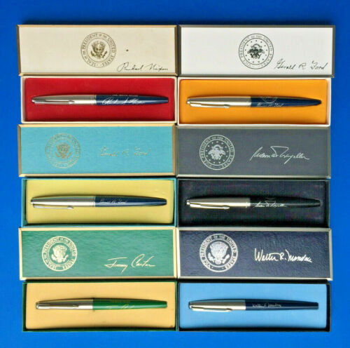 ***LAST LISTING***  EXTREMELY RARE - SIX PRESIDENTIAL BILL SIGNER PENS & VP PENS