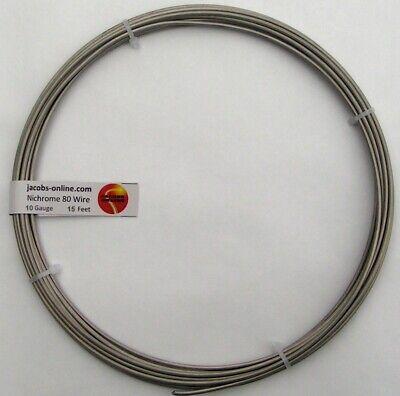 Nichrome 80 Resistance Wire 10 Awg Gauge 15 Feet