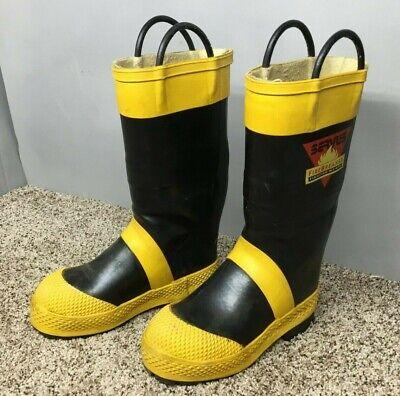 Servus Firebreaker Firefighter Safety Fire Boots Mens Size 7.5 Medium