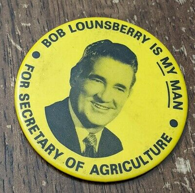 Vintage Pocket Mirror Secretary of Agriculture 1972 Campaign Souvenir Iowa
