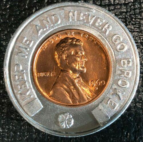 ENCASED COIN AU/UNC 1960 D LINCOLN CENT SIDNEY WATKINS RARE COINS CLEVELAND OHIO