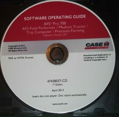 Case Afs Pro 700 Tractor Farming Software Operating Guide Manual 47438037-cd