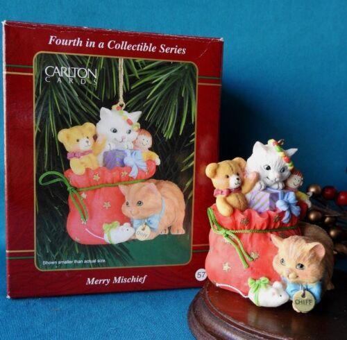 Carlton Ornament 1999 Merry Mischief Makers Cat Kitten # 4