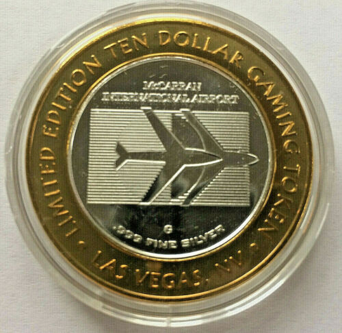 McCARRAN AIRPORT TWIN TOWERS LESS WE FORGET LTD 999 FINE SILVER TOKEN
