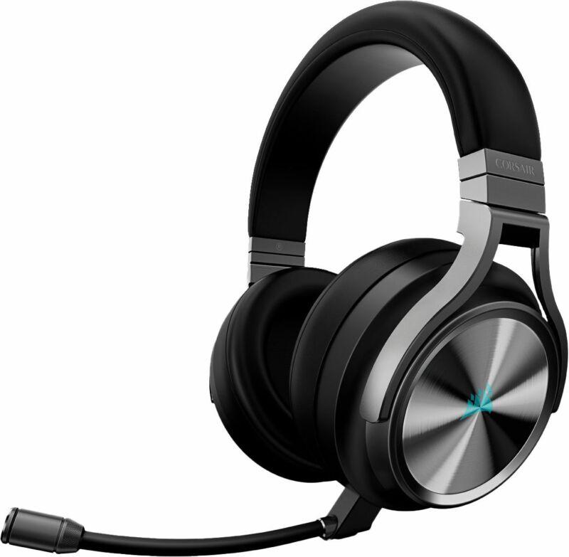 CORSAIR - Refurbished Virtuoso RGB SE Wireless 7.1 Surround Sound Gaming Over...