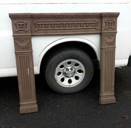 Antique Victorian Cast Iron Fireplace Mantle