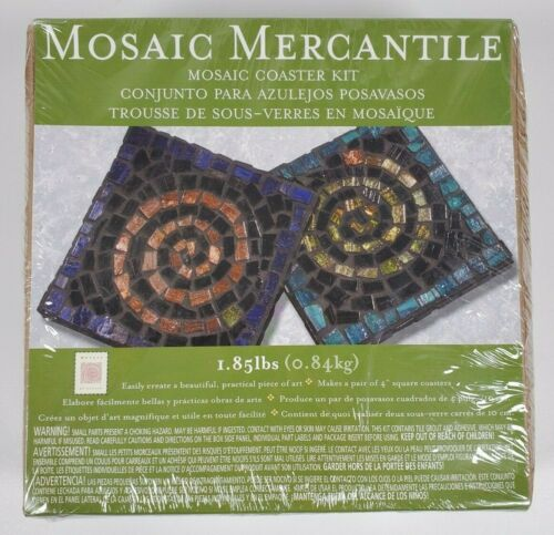New In Box Italian Authentic Mosaic Mercantile Coaster Kit >Free Shipping<