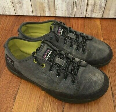 Patagonia Trail Shoes Climbing Hiking Retro Sneakers Gray Canvas Men's Size -