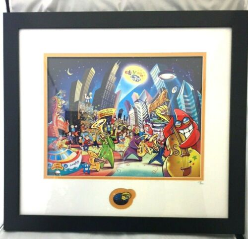 eBay Live Chicago 2008 Poster & Pin 10th Anniversary Power Sellers 113/200