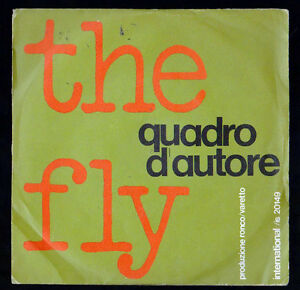 QUADRO-D-039-AUTORE-DISCO-45-GIRI-THE-FLY-FIND-THE-MAN-BROS