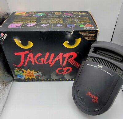 Rare Working Atari Jaguar CD Console in Box w/ 2 Games and Soundtrack US Seller