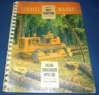Allis Chalmers Hd-5 Crawler Tractor Dozer Service Shop Repair Manual Book Oem
