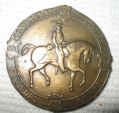 VINTAGE 1970s **CONFEDERATE STATES CAVALRY CORPS** MILITARY BELT BUCKLE