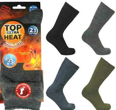 3 Pairs Genuine Mens Womens Heat Thermal Winter Warm Socks 2.3 tog HOT SOCK