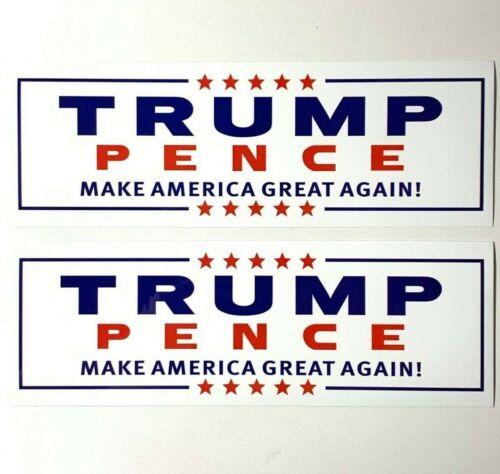 (2 Pcs) Donald TRUMP PENCE 2020 Bumper Decal Sticker, Make America Great Again