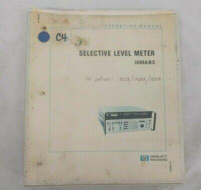 Hp 3586abc Selective Level Meter 3586abc Operating Manual 8906