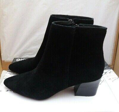 Ladies Kensie Lydenn Ankle Boots - Black Suede