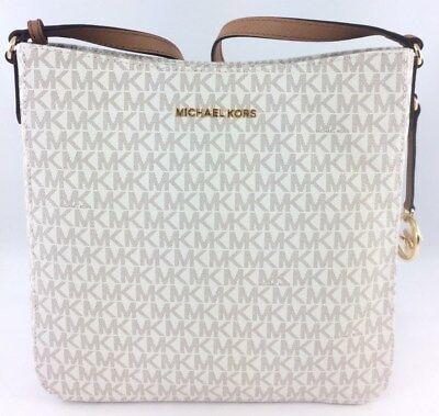NEW Authentic Michael Kors Jet Set Travel Large Messenger Crossbody Bag Vanilla