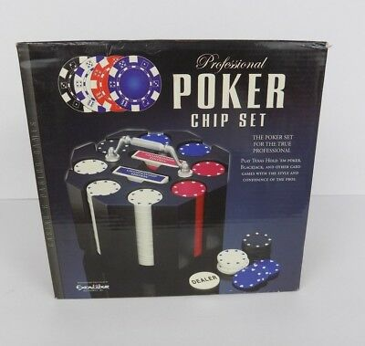 BRAND NEW EXCALIBUR PROFESSIONAL POKER CHIPS SET 240