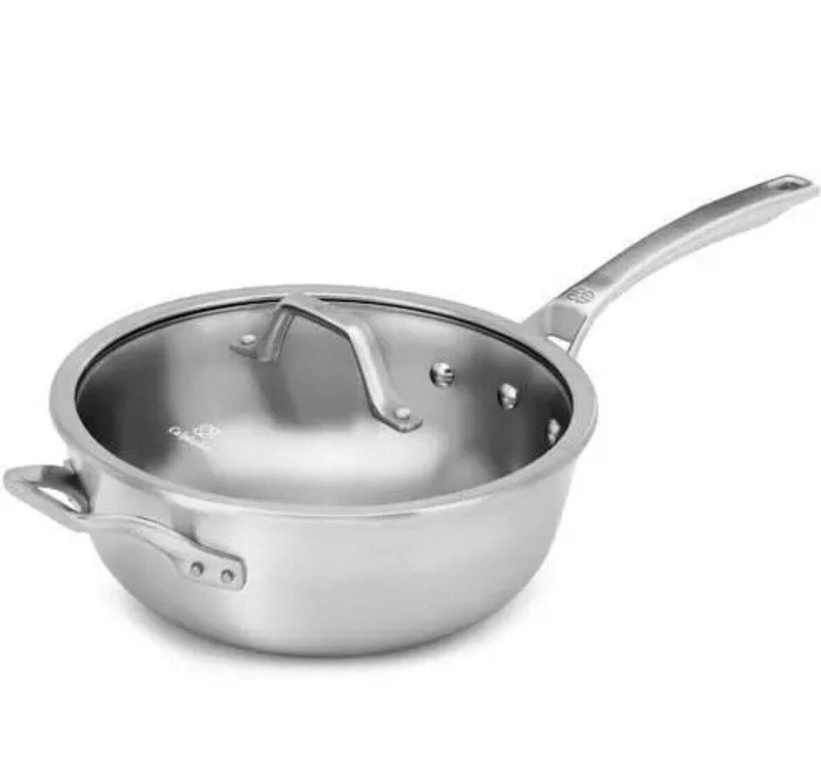 Calphalon Signature Stainless Steel 4 Qt. Chef Pan with Cove