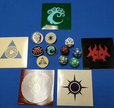 Ravnica Allegiance Guild Dice Set of five D20 spindowns & Guild pins & stickers for sale  San Dimas
