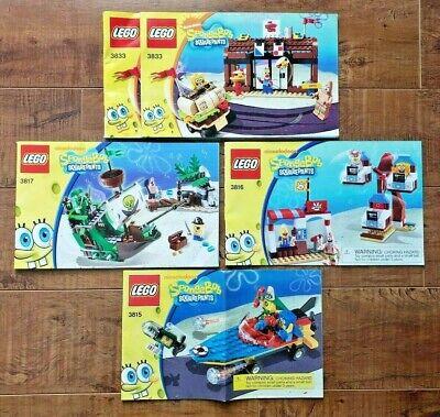 LEGO SpongeBob SquarePants Heroes + Dutchman + Glove World + Krusty Krab MANUALS