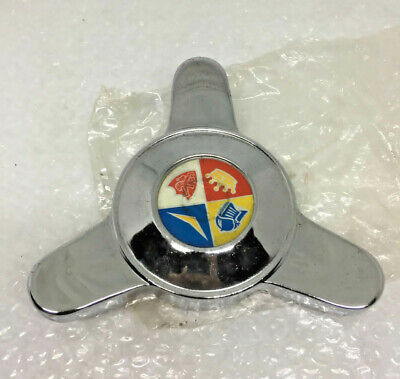 VESPA PIAGGIO WHEEL SPINNER TRIM CENTER STAINLESS VESPA 150 90 50 NOS