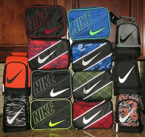 Nike Lunch Box School Bag Swoosh Style Black Red