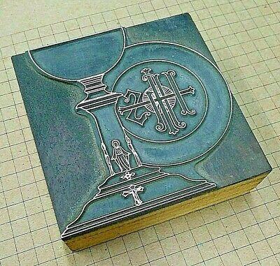 Ihs Holy Chalice Letterpress Printer Block Kelsey Printing Press