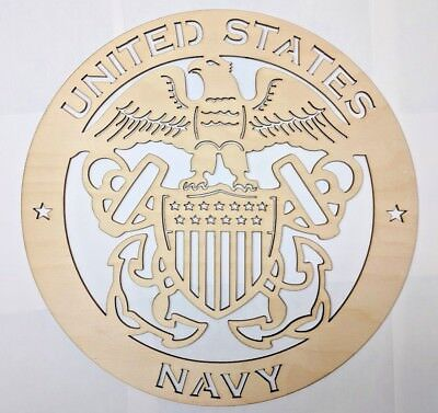 US NAVY wall art Laser cut sign gift idea NAVY Unfinished Wood Crafts Supplies   - Unfinished Wood Signs