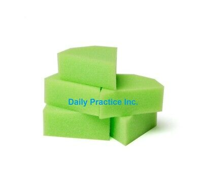 3d Dental Endodontic Foam Sponge Inserts Green White Triangle Shaped Pkg48