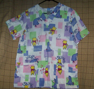 Winnie The Poo And Friends (WINNIE THE POO AND FRIENDS  A SMILE MAKES ALL THE DIFF. SCRUB TOP BY DISNEY)