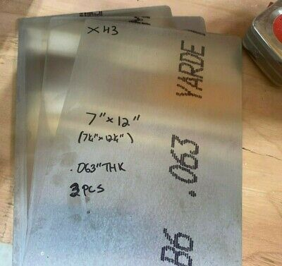 3 Pieces Of 7 X 12 Aluminum Sheet Metal .063 116 .060 Thick 16 Gauge