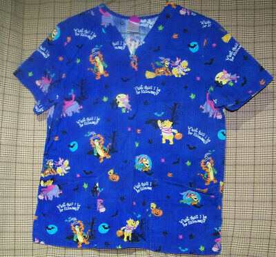 Winnie The Poo And Friends (WINNIE THE POO AND FRIENDS HALLOWEEN THEME SCRUB TOP BY DISNEY)