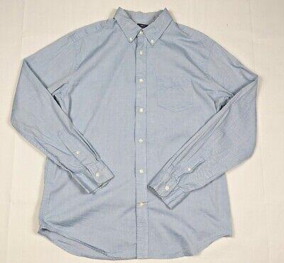 Gap Men's Light Blue Long Sleeve Button Up Oxford Shirt Large L Classic Fit Light Blue Oxford
