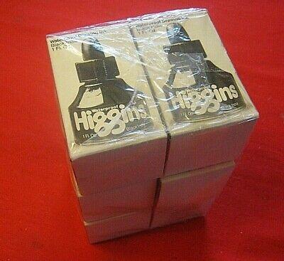 Higgins Waterproof Drawing Ink Black India 4415 - Six 1 fl oz Btls - New, Sealed