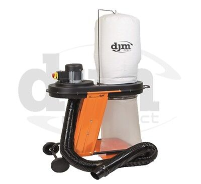 DJM Heavy Duty Industrial Workshop 1hp Dust Collector Dust Extractor 240v