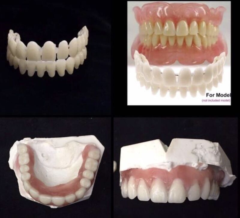 Do It Yourself Denture DIY False Teeth Upper Lower Set A1 Shade