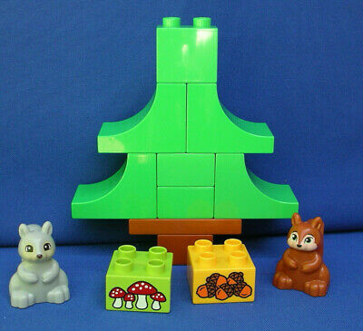 LEGO Duplo 10583 pine xmas tree squirrel Grey/Brown Acorn mushroom RARE set/lot