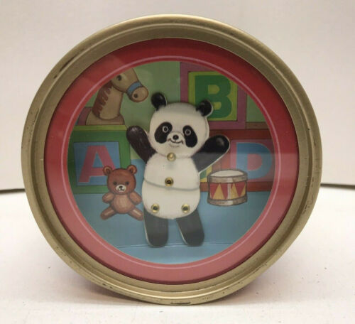 Vintage IKECHO Dancing Panda Bear Music Box, It's A Small World  Wind Up -Japan