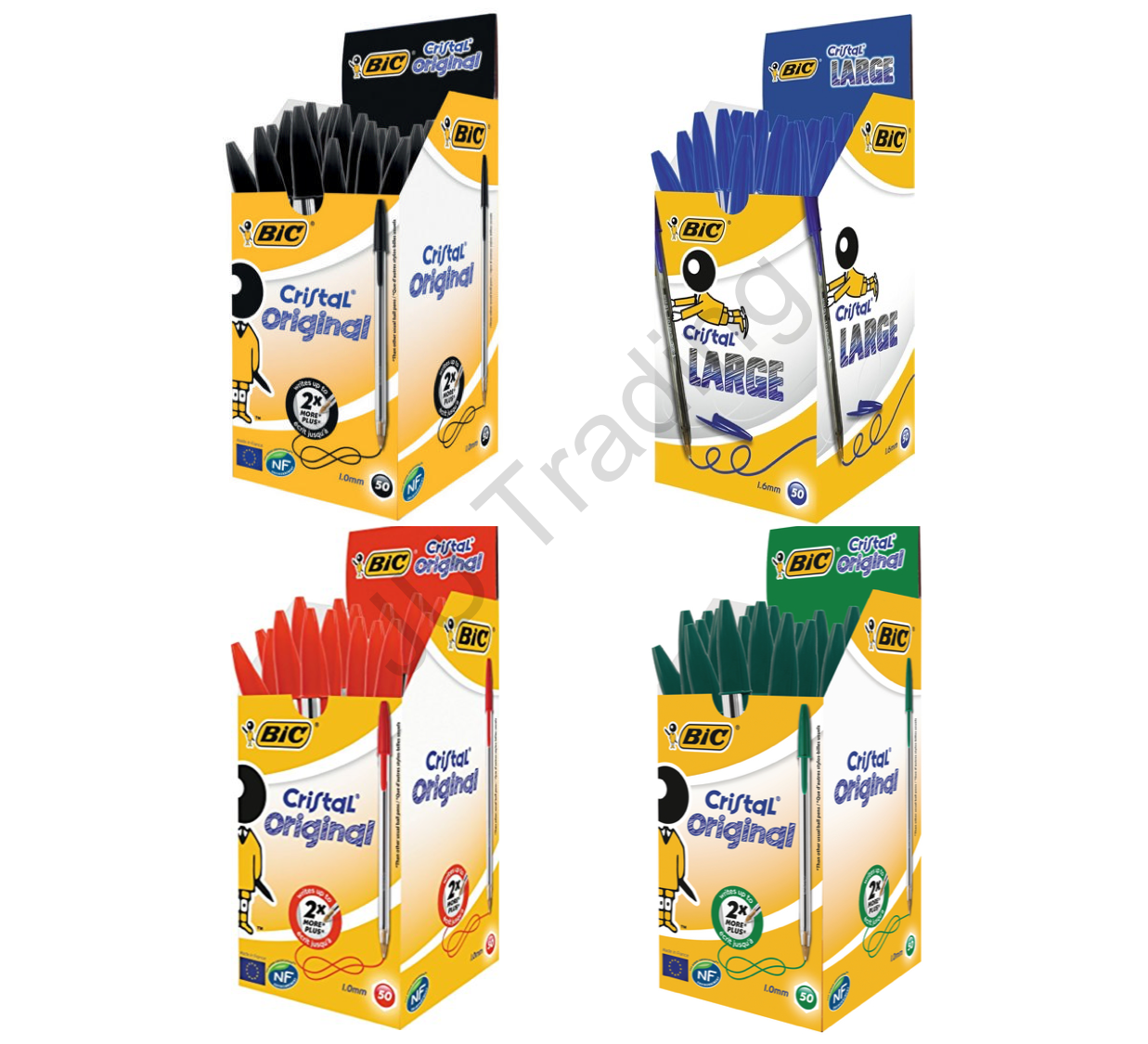 Bic Cristal Pens: BLACK, BLUE, GREEN, RED *Choose from Menu* UK SELLER FREE P&P